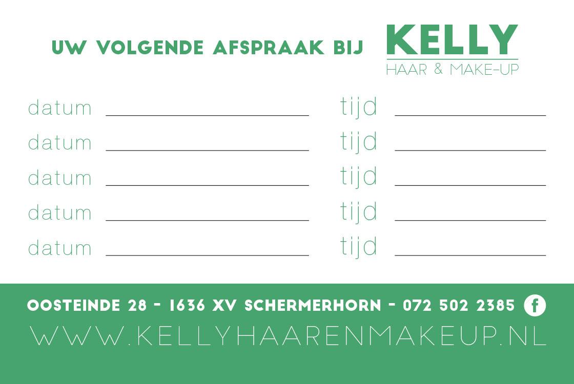 KellyHaarenMakeVisitekaartje